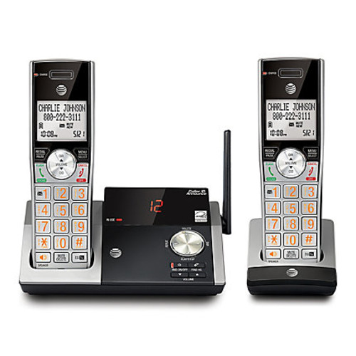 AT&T DECT 6.0 Expandable Phone System With Digital Answering System, 2 Handsets/2-Way Conference, CL82215