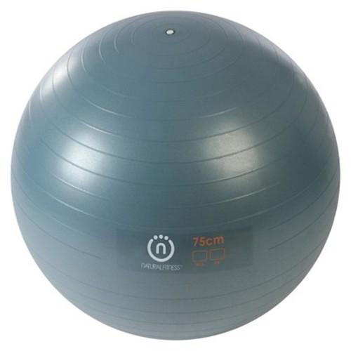 Natural Fitness 300lb Burst Resistant Exercise Ball - Slate (75cm)