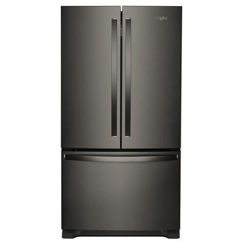 Whirlpool 20 cu. ft. French Door Refrigerator in Fingerprint Resistant Black Stainless with Internal Water Dispenser Counter Depth