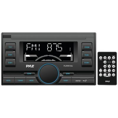 Pyle PLRRR18U Double-DIN In-Dash Mechless Digital Receiver With USB/SD Memory Card Readers, Black