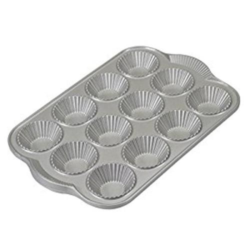Nordic Ware Platinum Nonstick Cast Aluminum Tartlette Pan [Silver]