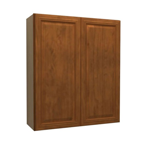 Home Decorators Collection Clevedon Assembled 24x36x12 in. Double Door Wall Kitchen Cabinet in Toffee Glaze