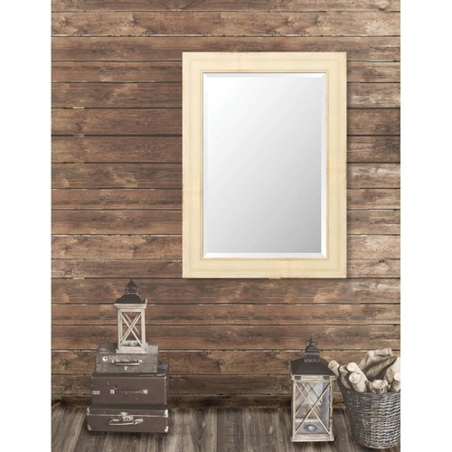 Larson-Juhl Pinnacle 31.5 in. x 43.5 in. French Antique Wide Framed Bevel Mirror