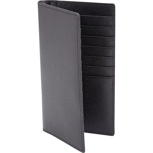 Royce Leather RFID Blocking Bifold Credit Card Wallet in Italian Saffiano Genuine Leather