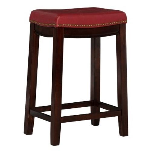 Linon Claridge Counter Stool, Red [red]
