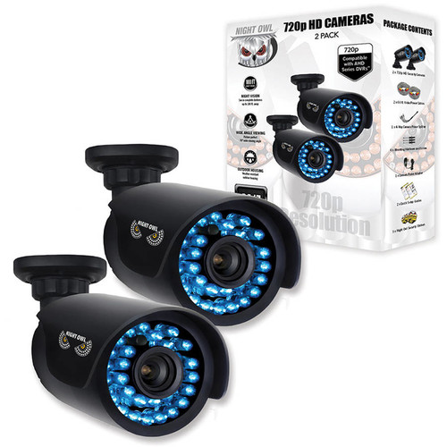 Night Owl 720p HD Security Bullet Cameras with 100ft. of Night Vision - 2Pk