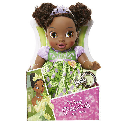 Disney Princess and the Frog Delxue Baby Tiana Doll with Rattle