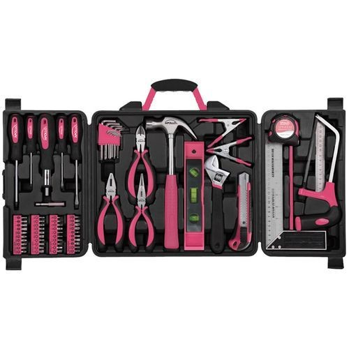 Apollo Tools 71 Piece Household Tool Kit Pink - DT0204P