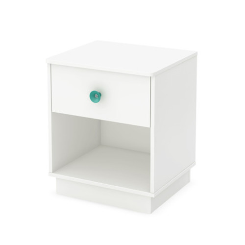 South Shore 9017062 Little Monsters 1 Drawer Night Stand - Pure White