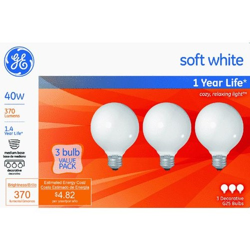 Satco G25 Incandescent Globe Light Bulb - S4041