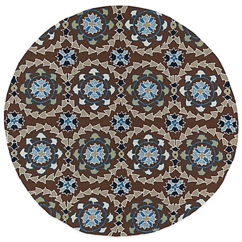 Kaleen Home & Porch Medallion 5-Foot 9-Inch Round Indoor/Outdoor Rug in Bown