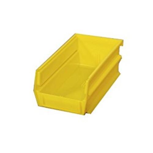 Triton Products 3-210Y LocBin Stacking, Hanging, Interlocking Polypropylene Bins 5-3/8-Inch L by 4-1/8-Inch W by 3-Inch H Yellow 24 CT