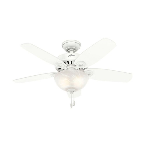 Hunter Builder Small Room 42 in. Indoor Snow White Bowl Ceiling Fan with Light Kit