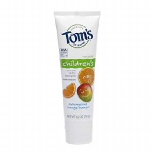 Tom's of Maine Children's Natural Fluoride Toothpaste Outrageous Orange Mango