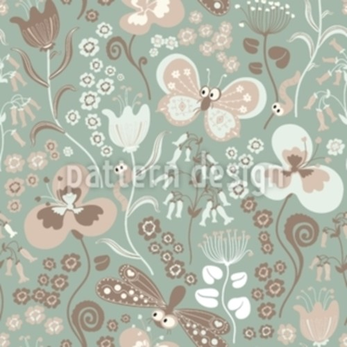 Tiny Garden Life Rectangle Tablecloth [option : Medium]