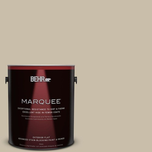 BEHR MARQUEE 1-gal. #PWL-91 Pale Bamboo Flat Exterior Paint