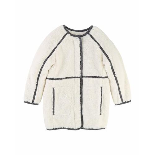 CHLOE Soft Lined Coat W/ Contrast Trim, Size 6-10