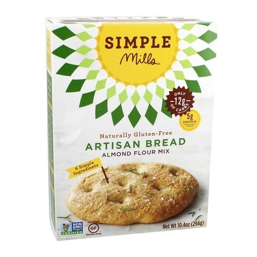 Simple Mills - Naturally Gluten-Free Almond Flour Mix Artisan Bread - 10.4 oz.