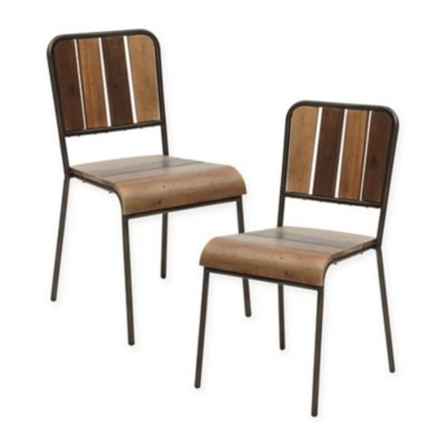 INK+IVY Renu Dining Chairs in Light Brown (Set of 2)