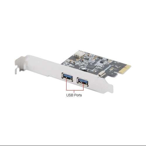 Sabrent PCIX-USB3 2-Port USB 3.0 PCIe Card - 2x External USB