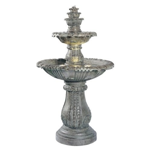 Kenroy Home #02254 Venetian Outdoor Floor Fountain with Moss Finish [Green]