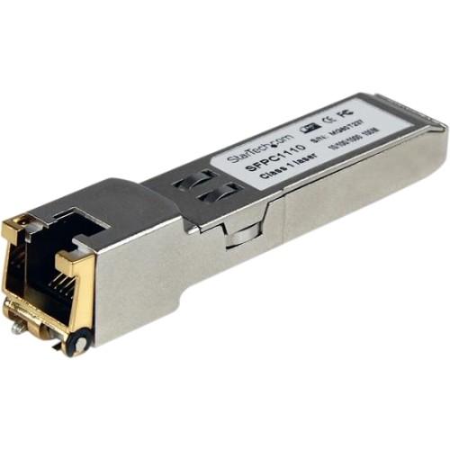 StarTech.com Cisco SFP-GE-T Compatible  Gigabit SFP  10/100/1000 Mbps  RJ45 Port  1000Base-T  Copper SFP  GBIC Module [Single, SFP-GE-T]