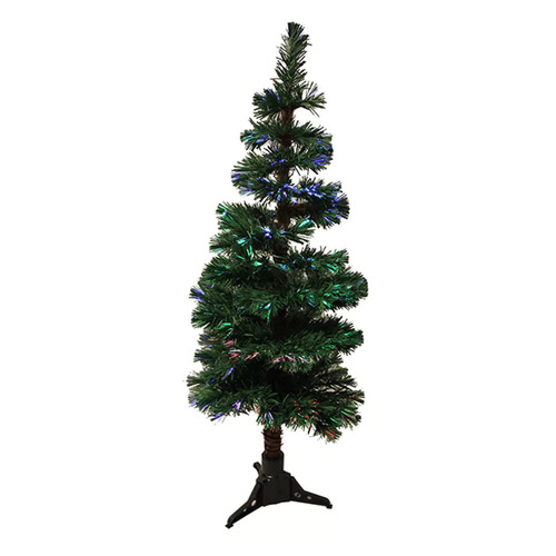 4-ft. Pre-Lit Fiber Optic Spiral Pine Artificial Christmas Tree