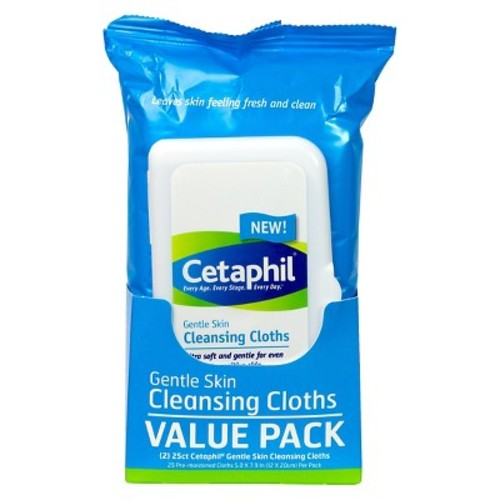Cetaphil Gentle Skin Cleansing Cloths - 50 Count