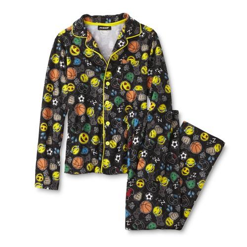 Joe Boxer Boys' Pajama Shirt & Pants - Emojis