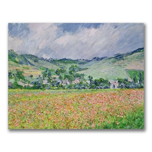 Trademark Fine Art The Poppy Field Near Giverny by Claude Monet Canvas Wall Art, 26x32-Inch [26 by 32-Inch]