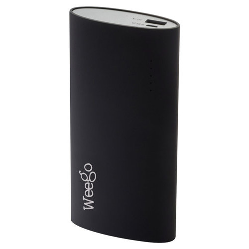 Weego - Rechargeable External Battery for Most USB-Enabled Devices - Black