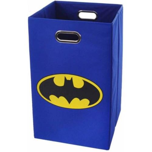 Batman Logo Blue Folding Laundry Basket