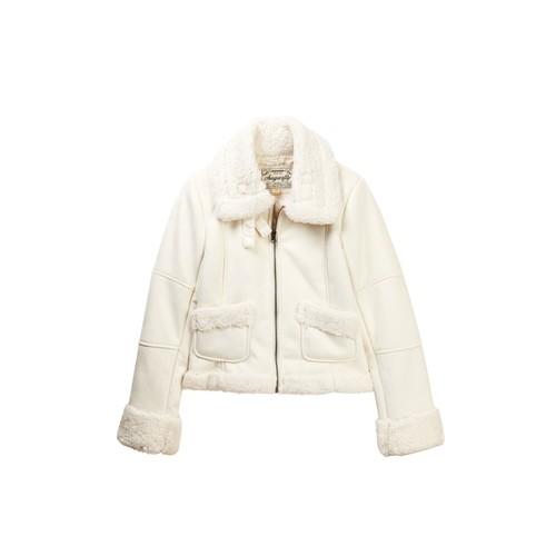 Faux Shearling Moto Jacket (Big Girls)