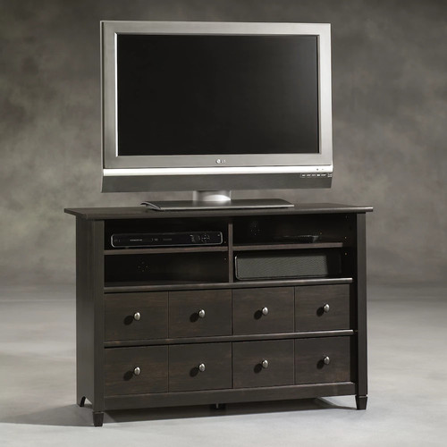 Sauder Edge Water Highboy TV Stand, Estate Black [Estate Black]