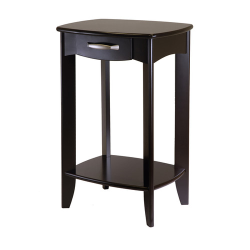 Winsome Danica Espresso Wood Home Living Room Side Table - Side Table