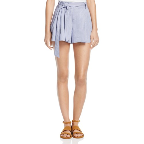 PARKER Striped Belted Shorts