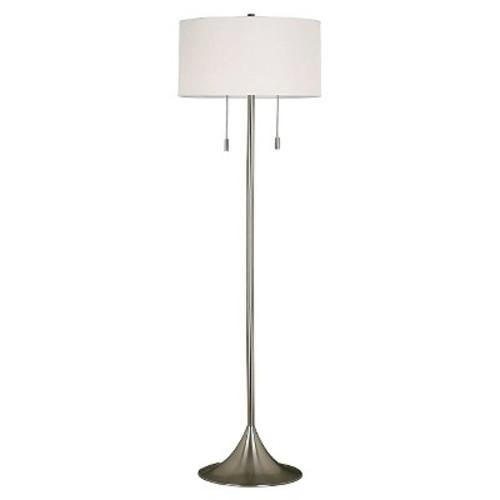 Kenroy Home Stowe Floor Lamp - Brushed Steel