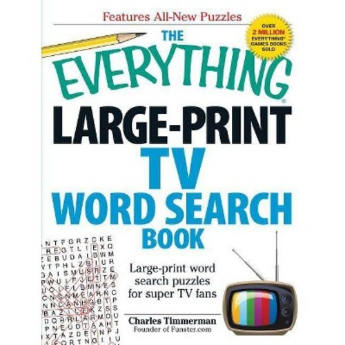 The Everything Large-Print TV Word Search Book: Large-print word search puzzles for super TV fans