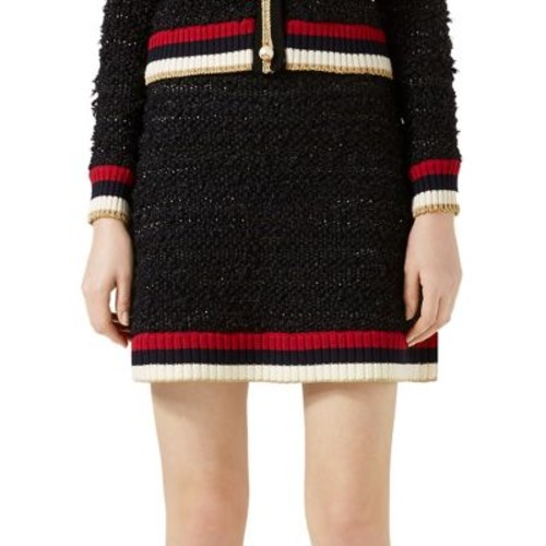 GUCCI Contrast-Trim Mixed Yarn Skirt