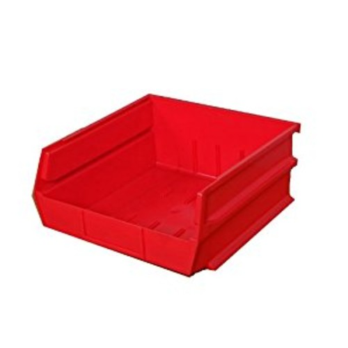 Triton Products 3-235R LocBin Stacking, Hanging, Interlocking Polypropylene Bins 10-7/8-Inch L by 11-Inch W by 5-Inch H Red 6 CT