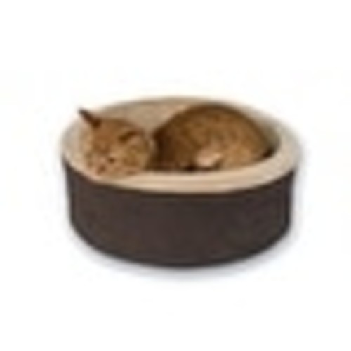 K&H Pet Products Thermo-Kitty Bed Small Mocha 16