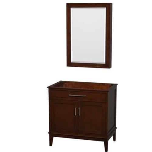 Hatton Collection 36 in Single Bathroom Vanity in Dark Chestnut [WCV161636SCDCXSXXMED]