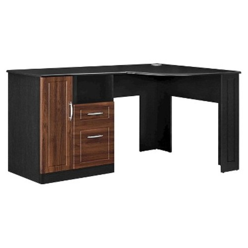 Altra Furniture Avalon Cherry and Black Desk with Storage