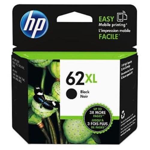 HP 62XL High Yield Black Original Ink Cartridge, 600 Pages C2P05AN