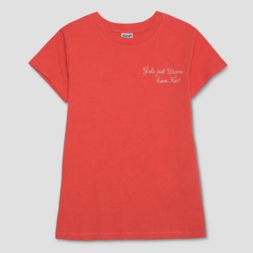 Junk Food Women's Plus Girls Just Wanna Have Fun Short Sleeve T-Shirt - Red