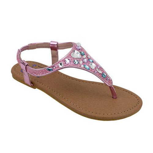 OMGirl Felicity Multicolor Rhinestone Girls Elastic Strap Sandals Little Kids JCPenney [medium]