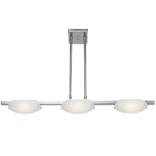 Nido Linear Suspension [Light Option : Halogen; Number of Lights : 3; Finish : Matte Chrome]