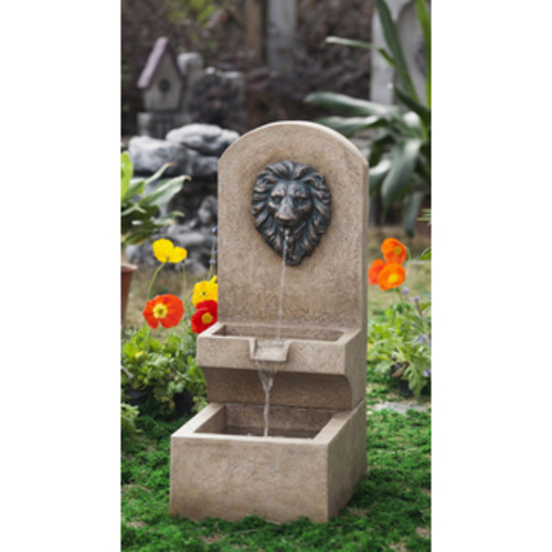 Pure Garden Outdoor LED Light Lion Water Fountain with Pump