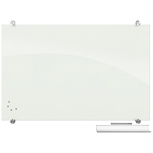 Best-Rite Visionary Magnetic Glass Board, Frameless, White Glossy, 36 x 24 x 1/8 Inches (83843)