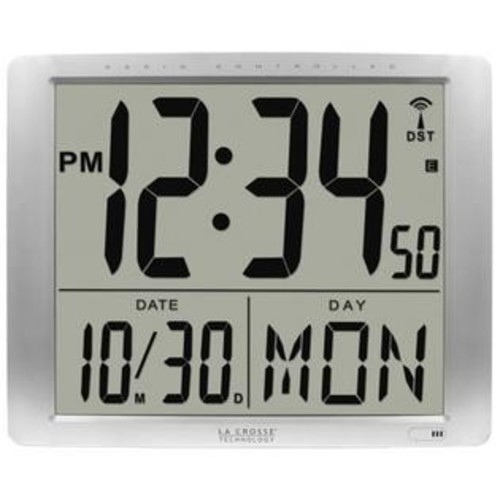 La Crosse Technology La Crosse 515-1316 Jumbo Digits Atomic Wall Clock